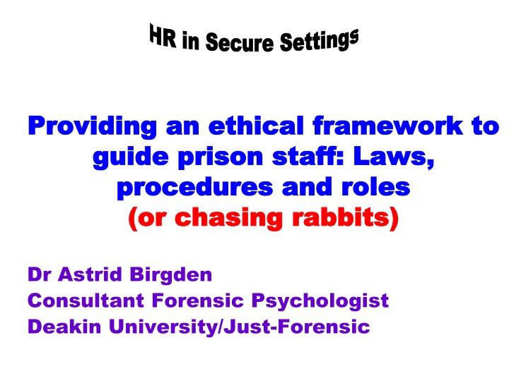 HR in Secure Settings