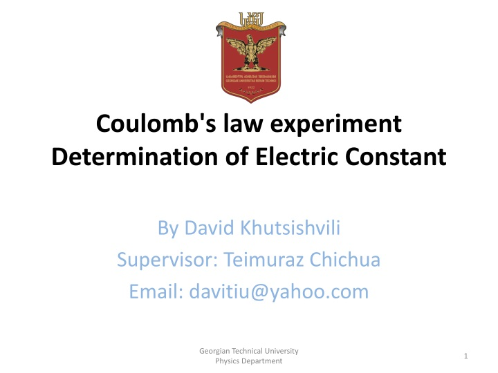 Coulomb's law experiment