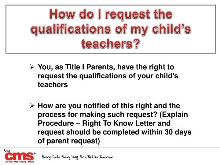 How do I request the qualifications of my child's teachers?