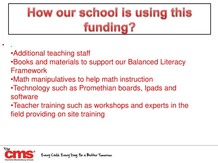 How our school is using this funding?