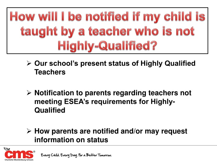 How will I be notified if my child is taught by a teacher who is not