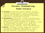 crisis counseling post crisis