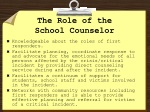 the role of the school counselor