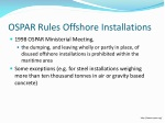 ospar rules offshore installations
