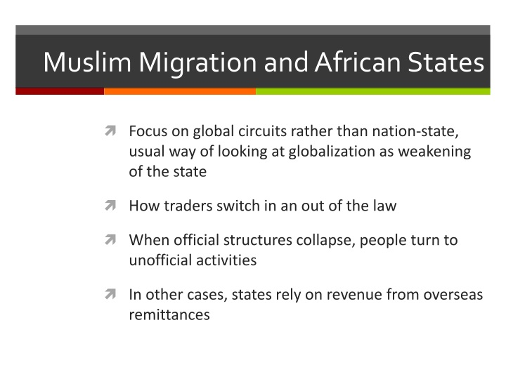 Muslim Migration and African States