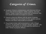 categories of crimes