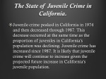 the state of juvenile crime in california