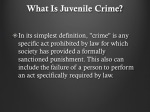 what is juvenile crime
