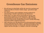 greenhouse gas emissions