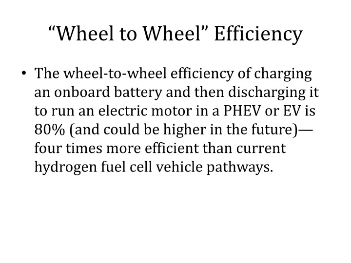 """Wheel to Wheel"" Efficiency"