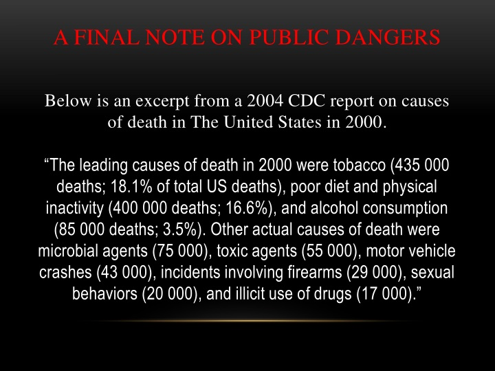 A FINAL NOTE ON PUBLIC DANGERS