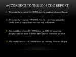 according to the 2004 cdc report