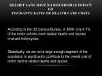 helmet laws have no discernible impact on insurance rates or health care costs