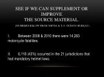 see if we can supplement or improve the source material numbers below from nhtsa u s census bureau
