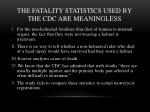 the fatality statistics used by the cdc are meaningless