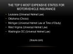 the top 5 most expensive states for motorvehicle insurance