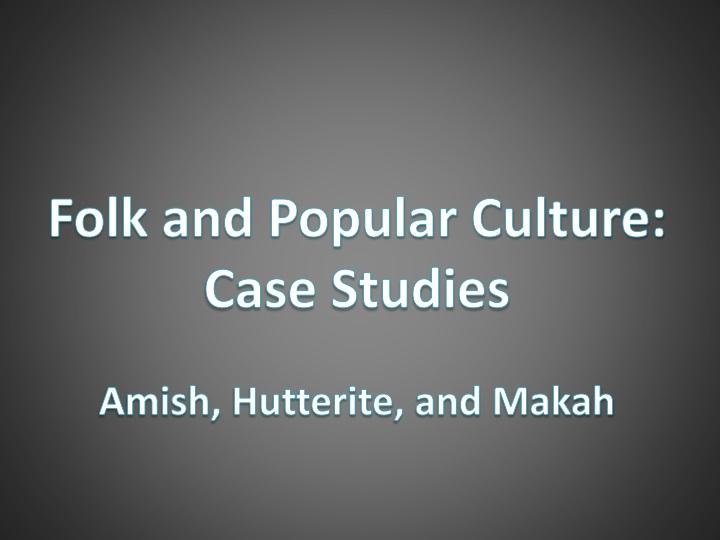 Popular case studies