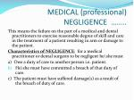 medical professional negligence