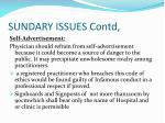 sundary issues contd