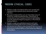 modern ethical codes