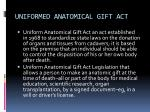 uniformed anatomical gift act