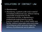 violations of contract law