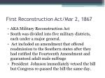 first reconstruction act mar 2 1867