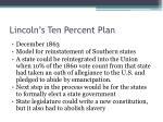 lincoln s ten percent plan