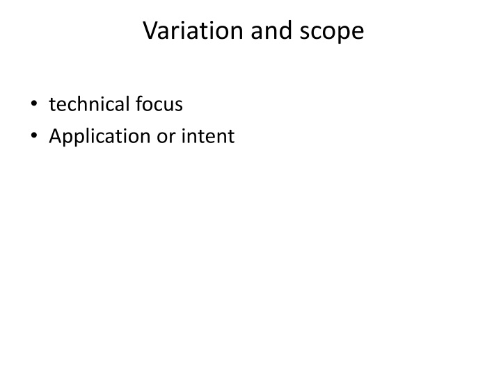 Variation and scope