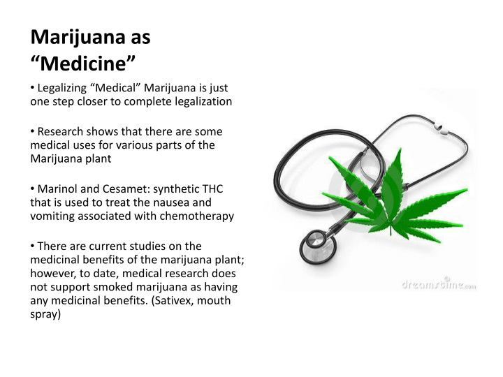 "Marijuana as ""Medicine"""