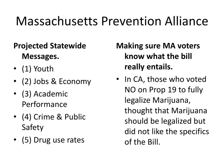 Massachusetts Prevention Alliance