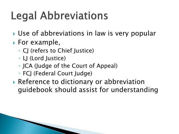 Legal Abbreviations