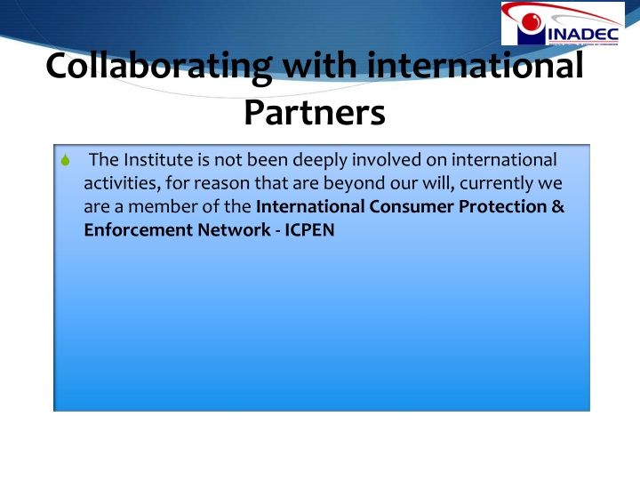 Collaborating with international Partners