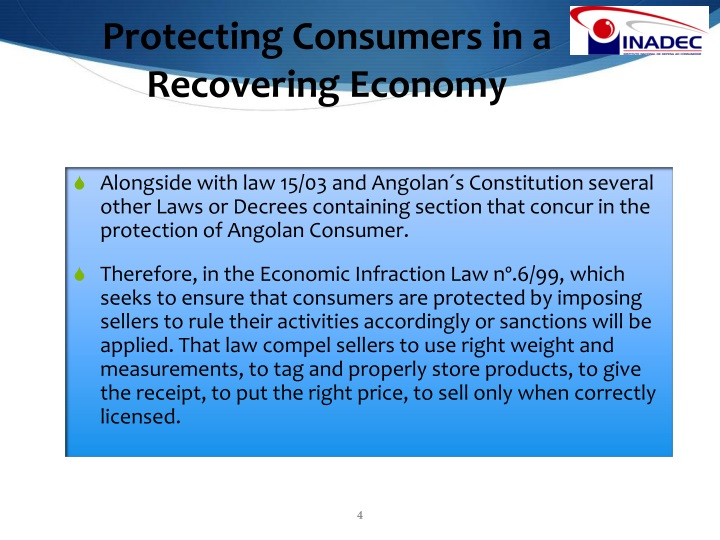Protecting Consumers in a Recovering Economy