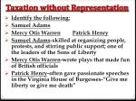 taxation without representation7