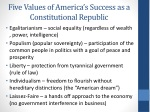 five values of america s success as a constitutional r epublic