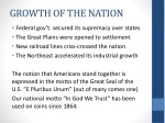 growth of the nation