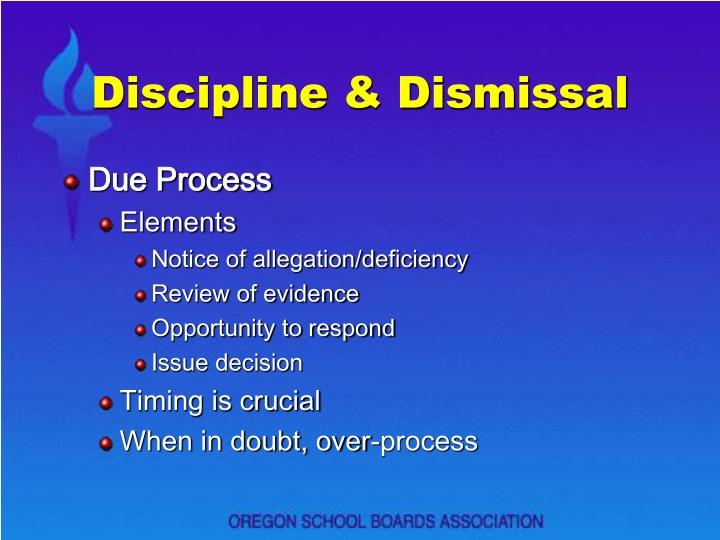 Discipline & Dismissal