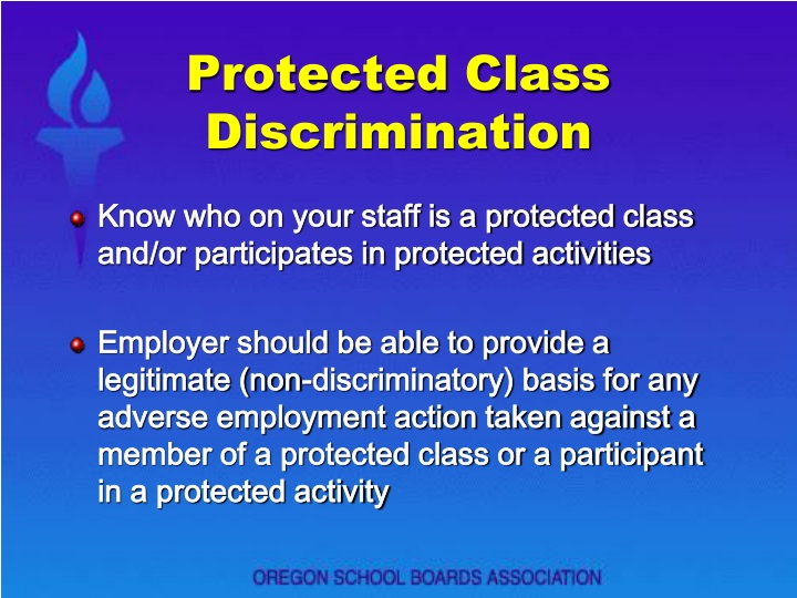 Protected Class Discrimination