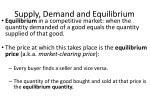 supply demand and equilibrium