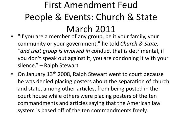 First Amendment Feud