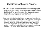 civil code of lower canada