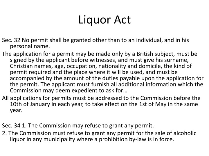 Liquor Act