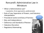roncarelli administrative law in miniature