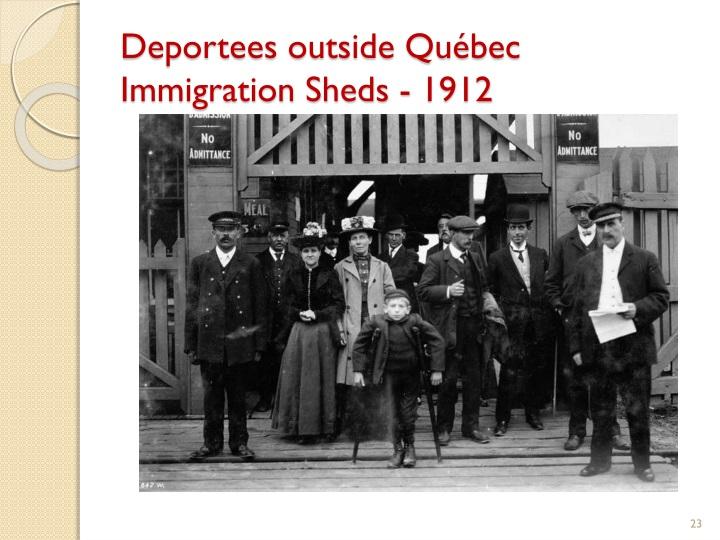 Deportees outside Québec Immigration Sheds - 1912