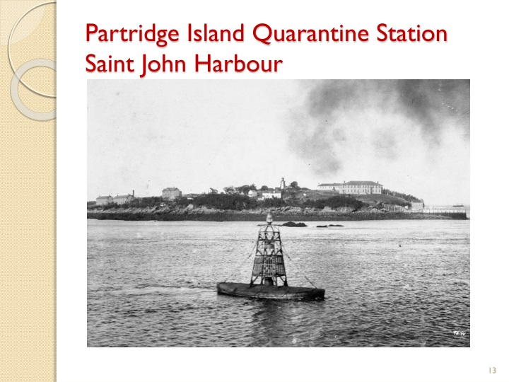 Partridge Island Quarantine Station Saint John Harbour