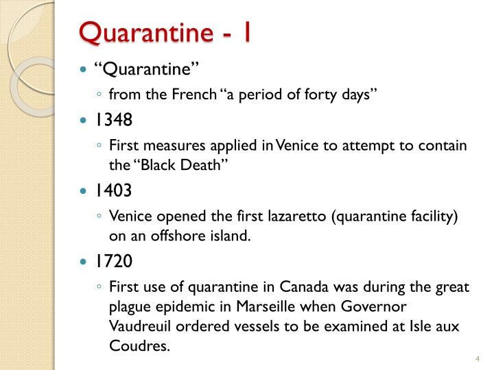 Quarantine - 1