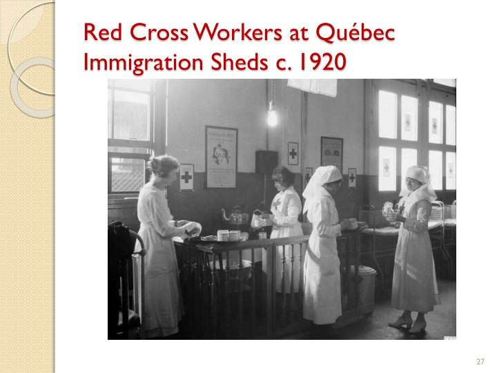 Red Cross Workers at Québec Immigration Sheds c. 1920