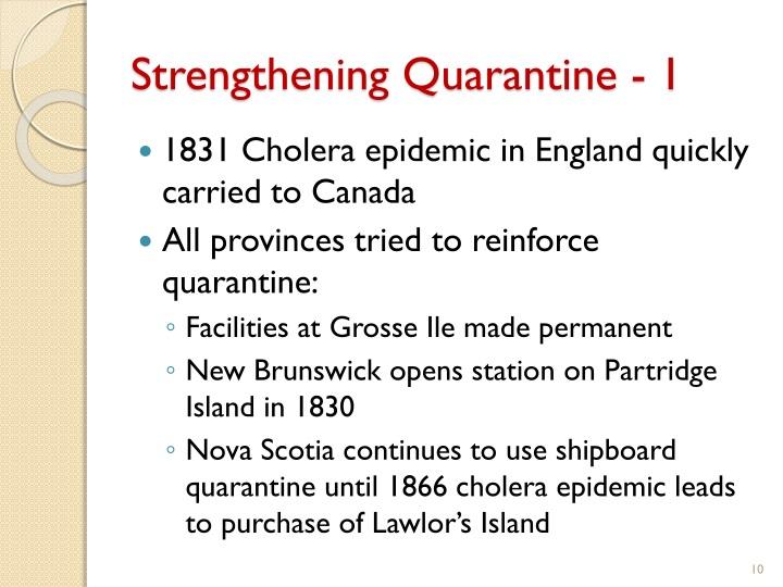 Strengthening Quarantine - 1