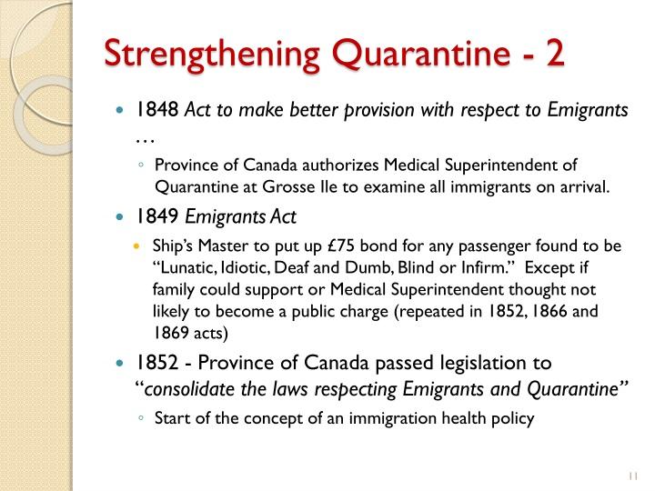 Strengthening Quarantine - 2